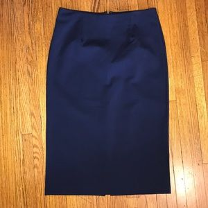 Halogen Women's Blue Stretch Pencil Skirt